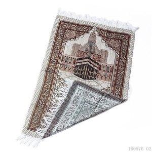 Image 5 - Портативный коврик для молитвы, мусульманский коврик для молитвы с сумкой, Sajadah, одеяло для молитвы, Дорожный Коврик для молитвы Salat Musallah