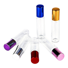 Glass beads perfume sub-bottle 10ml transparent glass essential oil bottle mini bead 6pcs empty