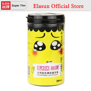 ELASUN 24 PCS 5 Kinds of Expression Styles Ultrathin Cute Yellow Man Condoms Thailand Natural Fragrance Latex Rubber Condom
