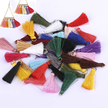 20pcs 3cm Cotton Tassel Bursh For DIY Jewelry Making Handmade Bohemia Earrings Charm Bag Garment Pendants Crafting Accessories gufeather l31 2cm tassel cotton tassel bursh golden ring earring tassels jewelry accessories diy accessories jewelry making