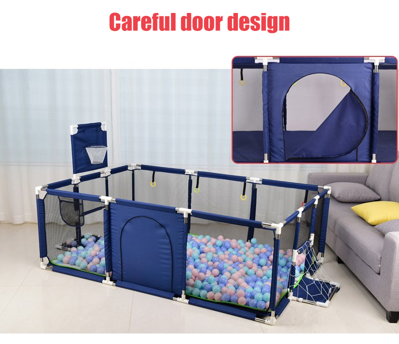 Baby Playpen Made With Stainless Steel Tube For Baby Pool Balls 13
