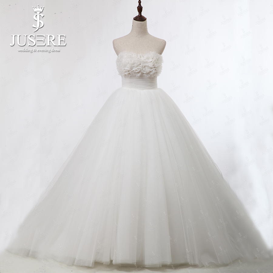 Buy jusere 2013 puffy cute ball gown for Cute white wedding dresses