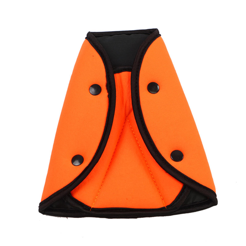 Защитный автомобильный ремень безопасности для маленьких детей, треугольный держатель, защитный чехол для детского сиденья, регулятор, полезная защита для детей - Цвет: Оранжевый