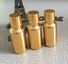 цены 50pieces/lot 20ml High temperature glass gold plated dropper bottle, empty 20ml gold glass essentical oil bottle wholesale