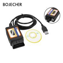 OBD2 ELM327 USB Công Tắc OBD Máy Quét Mã Chip MZ327 Bút Thử Sửa Đổi Mở Ẩn Công Cụ Chẩn Đoán Cho Xe Ford Forscan