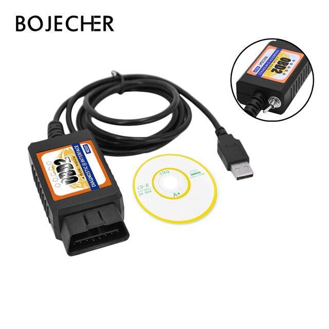 OBD2 ELM327 USB Switch OBD Scanner Code Reader Chip MZ327 Tester Modified Open Hidden Diagnostic Tool for Ford Forscan