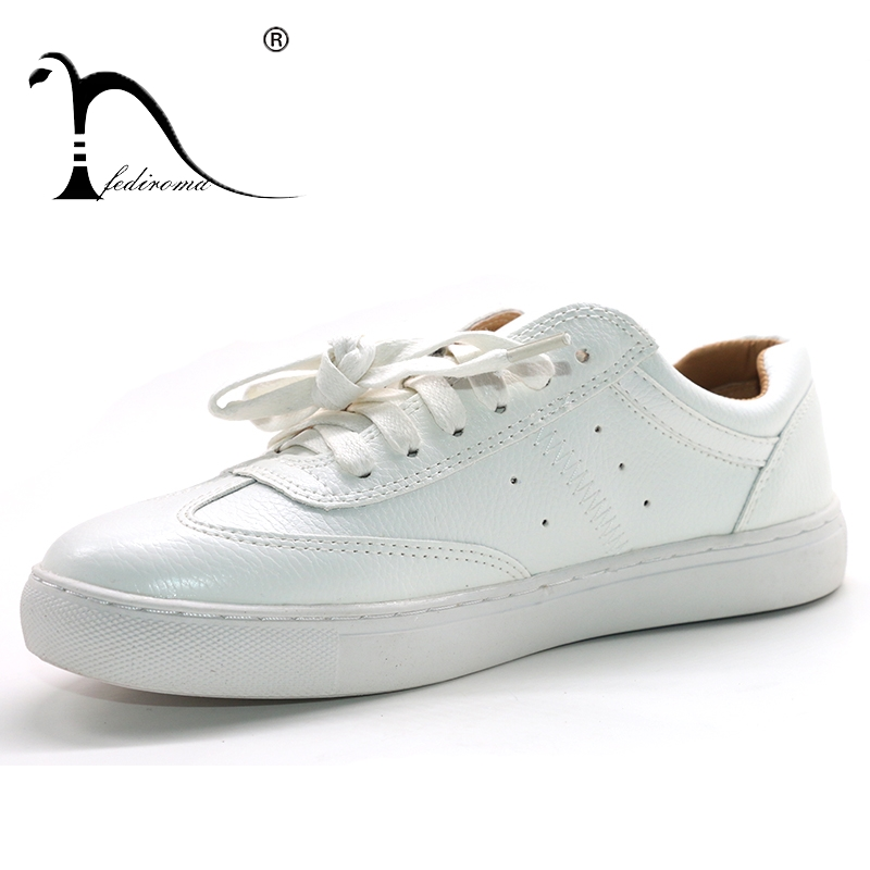 FEDIROMA 2018 Summer Women Flat Shoes Breathable Sneakers Female Casual Flat Woman Lace-up White Flats Soft Women Shoes 34-42 new brand black white vintage women footwear lace up casual oxford flat shoes woman british style breathable zapatos mujer