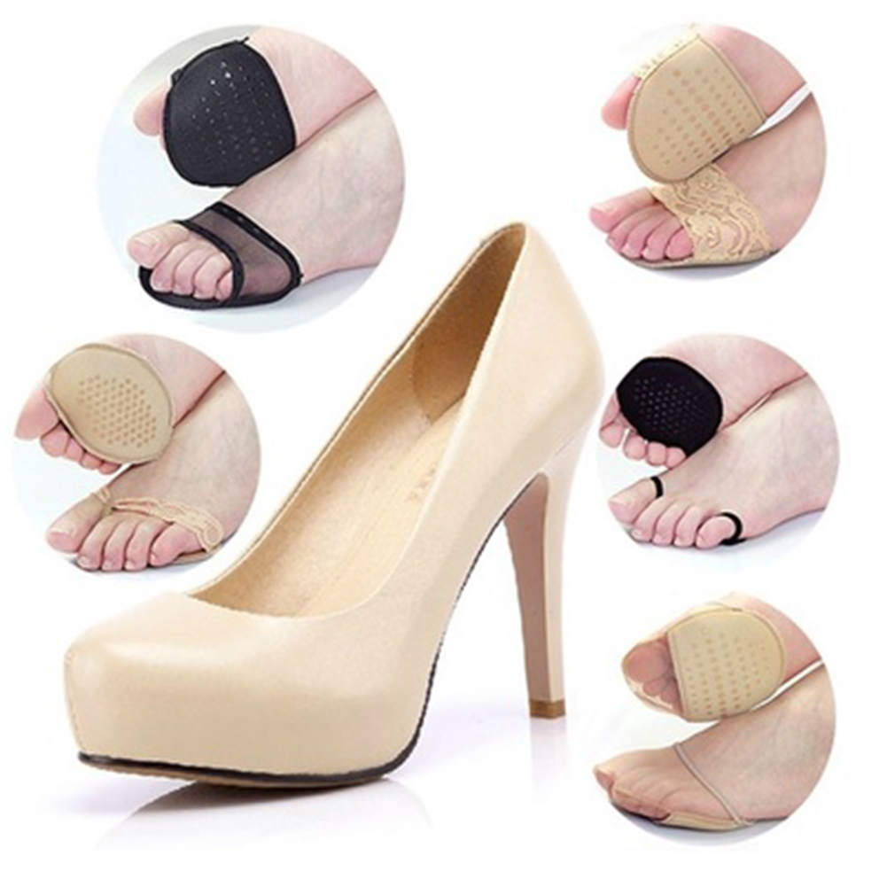 1 Pair of Thickening Super Soft Comfortable Forefoot Pad Flip Heel Invisible High Heeled Shoes Pad Curshion Slip Resistant Half