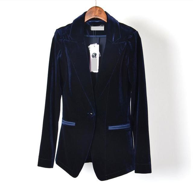 Solo breatsed estación Europa nueva pana de terciopelo abrigo CHAQUETA delgada chaqueta de terciopelo 2017 mujeres de gran calidad w1579