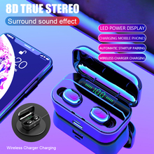 Bluetooth 5.0 Oortelefoon TWS Draadloze Headphons Sport Handsfree Oordopjes 3D Stereo Gaming Headset Met Microfoon Opladen Doos