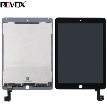 New Original For ipad 6 Lcd Display with Touch Screen Digitizer panel for ipad6 air 2 A1567 A1566 with sticker Black White