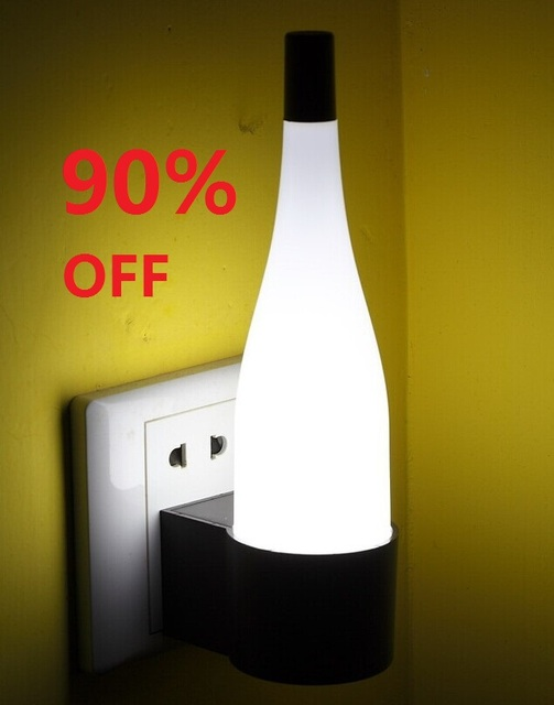 FREE SHIPPING 90% OFF Genuine creativity LED eye protecting light bottle light energy wall lamp bedroom bedside lamp 3W 12V