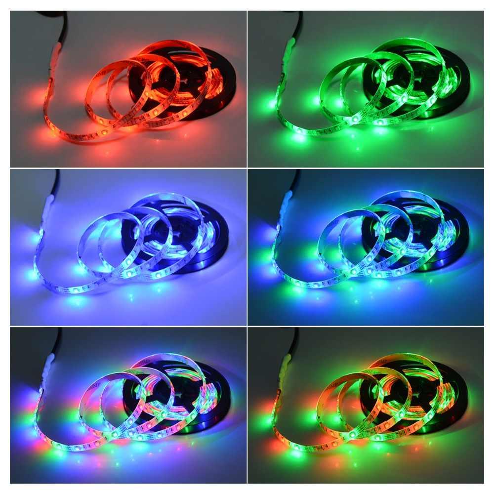 Bande de LED rvb pour lampe de rétro-éclairage tv pour 1m 2m 3m 4m 5m LED lumière TV pour armoire armoire éclairage LED pour placard éclairage de fond Diode
