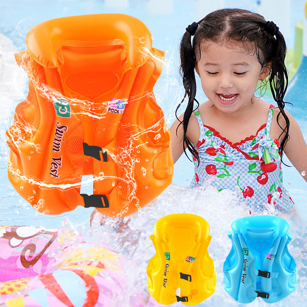 Children Inflatable Swimming Life Jacket Buoyancy Safety Jackets Boating Inflatable Swim Vest Drifting Lifesaving Vest D40