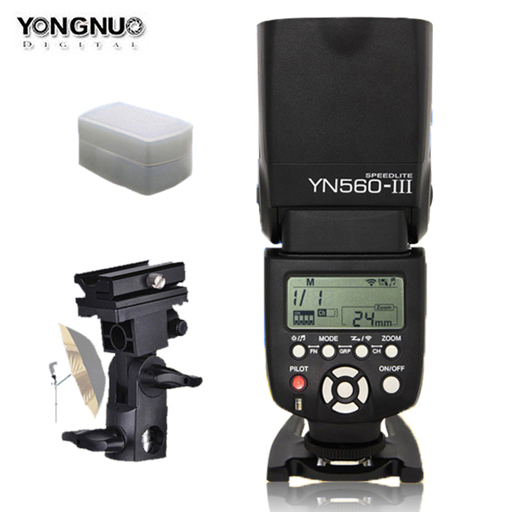 YONGNUO YN560III YN560-III YN560 III Wireless Flash Speedlite For Canon Nikon Olympus Panasonic Pentax Camera Flashlight 2 pcs yongnuo yn560 iii yn560iii flash speedlite flashlight for canon nikon