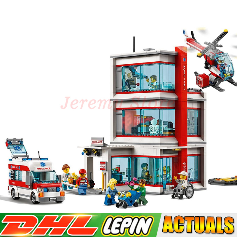Compatible Legoed 60204 2018 New LP 02113 943Pcs City Hospital Sets Building Blocks Bricks DIY Model Kits Boy Toys Gift
