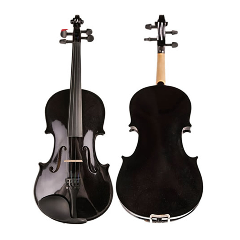 Maple Wood Student Fiddle Violino Oil Varnish Beginner Black Violin 4/4 3/4 1/2 1/4 1/8 Viola w/ Bow Shoulder Rest Case for kids w case mute bow strings students beginner acoustic violin oil varnish craft stripe solid wood violino violin 4 4 3 4