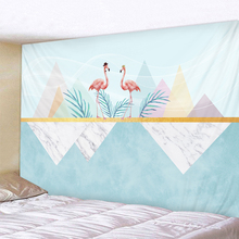 Simple Flamingo Landscape Tapestry Boho Mandala Wall Hanging Royal Blue 3D Hippie Wall Tapestry Home Decor Mint Yoga Mat home decor flamingo wall tapestry