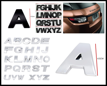 4.5CM large size car metal alphanumeric English decorative stickers for BMW i8 Z4 X5 X4 X2 X3 M5 M2 X6 M6 640i 640d image