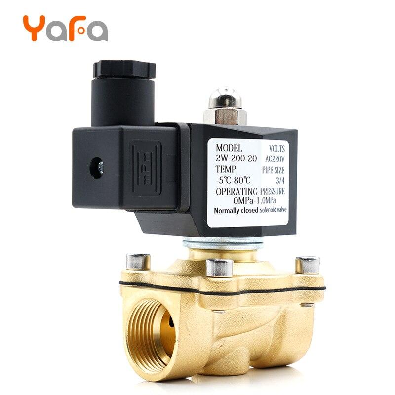 Normalmente cerrado, válvula solenoide, válvula de agua, IP65 completamente cerrado bobina G3/8