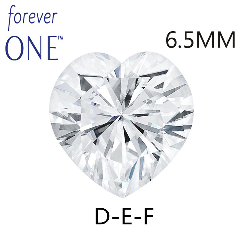 Charles Colvard Moissanite Loose Stones Heart Brilliant Cut 6.5mm 1Carat DEF Color VVS VS Test positive Lab Diamond Gemstone