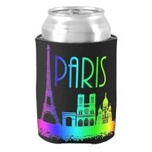 Arco Iris de Monumentos de parís Torre Eiffel Diseño Fantástico Puede Refrigerador Fresco Lata De Cerveza Titulares para Pareja Maravillosa Bebida Insualtors
