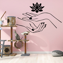 Nail salon flower Spa Salon Vinyl Wall Stickers Wallpaper For Beauty Massage wall sticker for Room Decoration Mural Poster