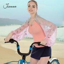 Womens Sunscreen Cuff Chiffon Scarf Summer Beach Pashmina Floral Print Silk Wrap Shawl Soft Stole Bufanda