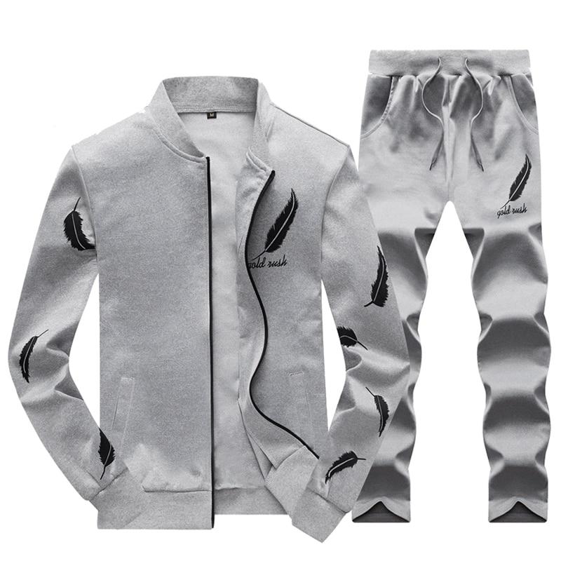 Costumes qhui Survêtement Vêtements Pantalon Automne Ensemble Hiver Printemps lan Hei 2 Tenue Mode bai De Sport 2017 Pièces Veste Hommes Décontractés vqHZxz