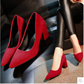 Plataforma de las mujeres Zapatos de mujer de tacón alto Zapatos de Baile Latino Mujer Tenis Feminino Áspero Con Un Solo Zapato Rojo de La Boda