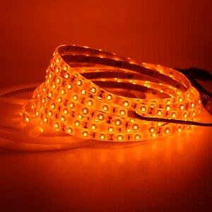 Image 3 - Orange Led Flexible Strip Light 3528 SMD 60led/m 120led/m 600nm True Orange no Amber Yellow Led Flexible Tape Black lamp 1m 5m