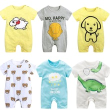 2019 summer baby boy girls romper Jumpsuit Baby cloth short sleeve 100% cotton cartoon toddler cute Clothes 0-24M kids ropa bebe