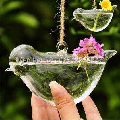 2014 Doprava zdarma průhledná skleněná váza s květinami visícími hydroponickými stylovými moderními domy