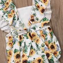 Baby Girl Floral Romper Jumpsuit Outfit