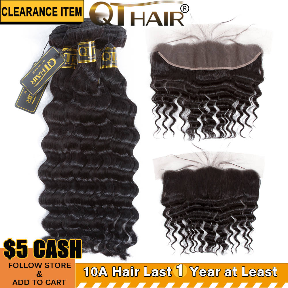 qt hair bundles with lace frontal