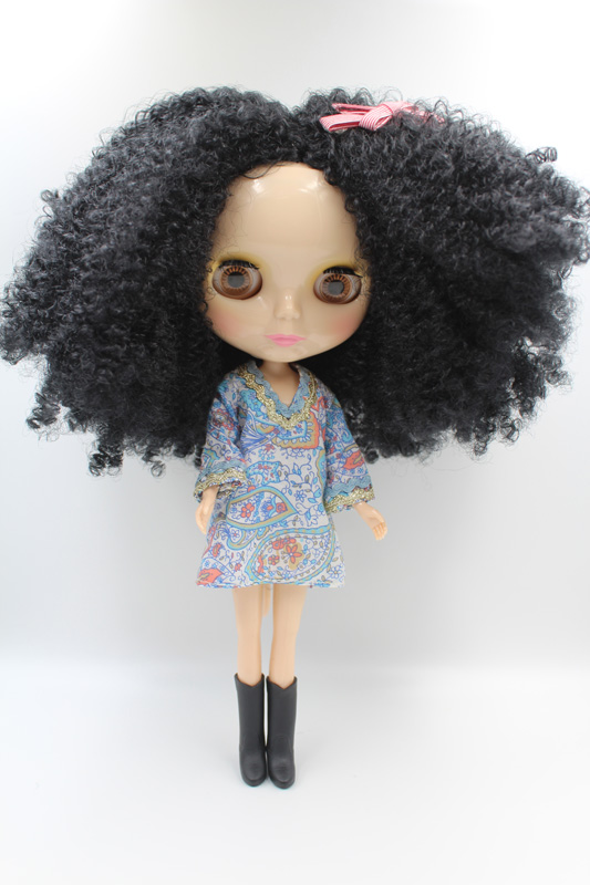 Free Shipping big discount RBL-307DIY Nude Blyth doll birthday gift for girl 4colour big eyes dolls with beautiful Hair cute toy big beautiful eyes косметический набор косметический набор big beautiful eyes