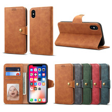 NeWisdom Original for iphone xs max case leather Slot luxury iPhone x flip 7 plus cover 8 Card Holder Wallet phone xr cases