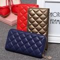 Women Long Wallet Leather Diamond Lattice Purses Female Zipper Card Holder Clutch Wallets Pochette Money Bag Carteira Feminina