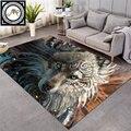Волк воин от SunimaArt большой ковер Волчья зона коврики для гостиной Ловец снов коврик нескользящий tapis 152x244 см Прямая поставка