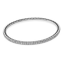 New Trendy Authentic 925 Sterling Silver Bead Charm Bracelet Fit Original Hearts Of Pans Bangle For Women Fine Jewelry Gift ztung lvs1 for us trendy teardrop real zircon bracelet bangle solid 925 sterling silver gemstone fine jewelry bangle best gift
