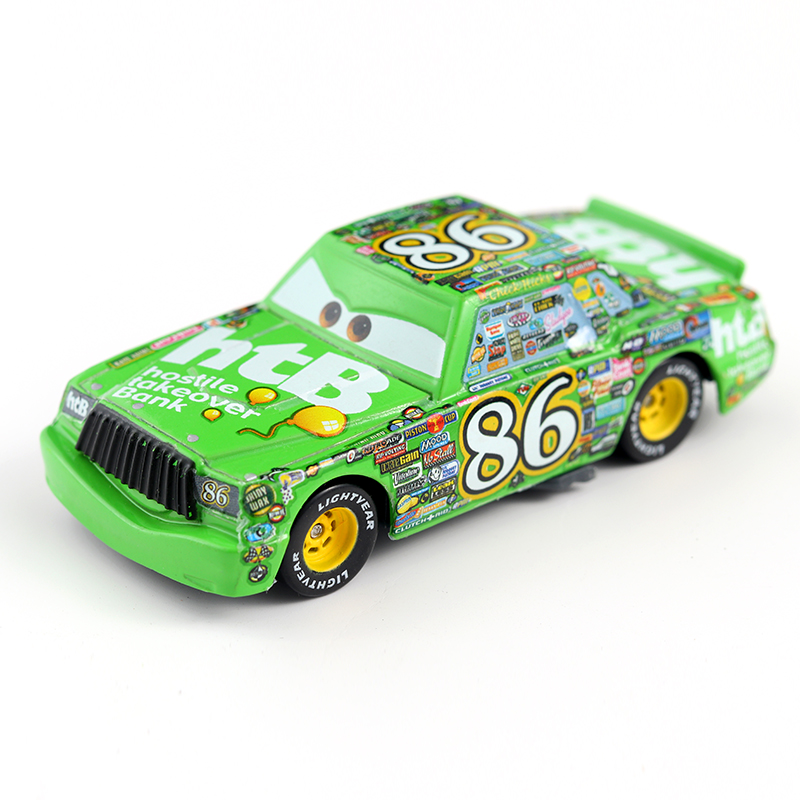 Cars Disney Pixar Cars No.86 Chick Hicks Metal Diecast Toy Car 1:55 Loose Brand New Disney Cars2 And Cars3 Free Shipping