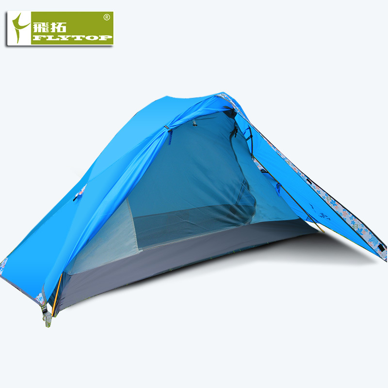 Flytop Extension Outdoor Single Tent Double layer Ultra light Stormproof Windproof Portable Camping Tent
