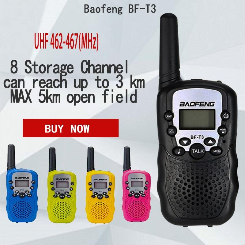 2 Pcs Baofeng BF-T3 UHF462-467MHz 8 Kanal Tragbare Zwei-Weg 10 Ruftöne Radio Transceiver für Kid Radio Walkie talkie