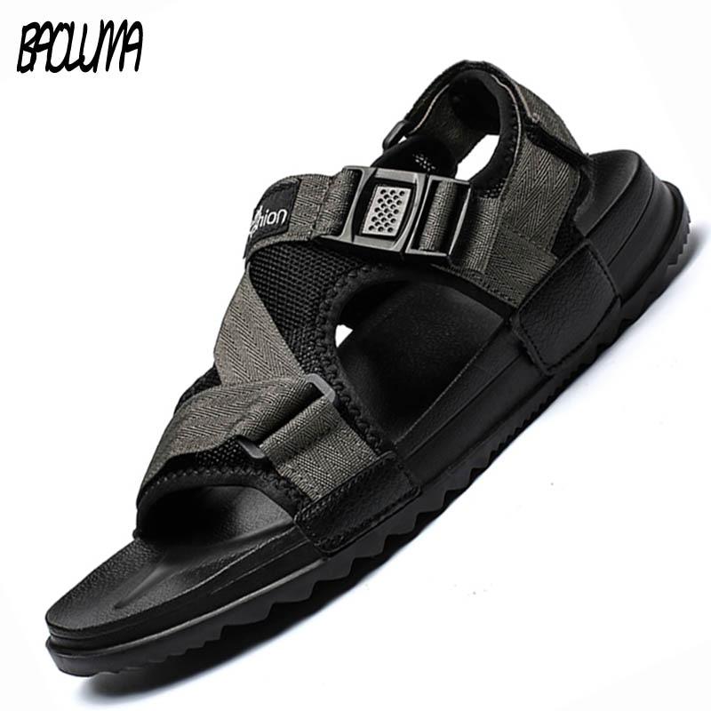 Lightweight Soft Man Beach Sandals Summer Men's Design Roman Outdoor Slippers Shoes Elastic Men Casual Shoe Flip Flops Big Size