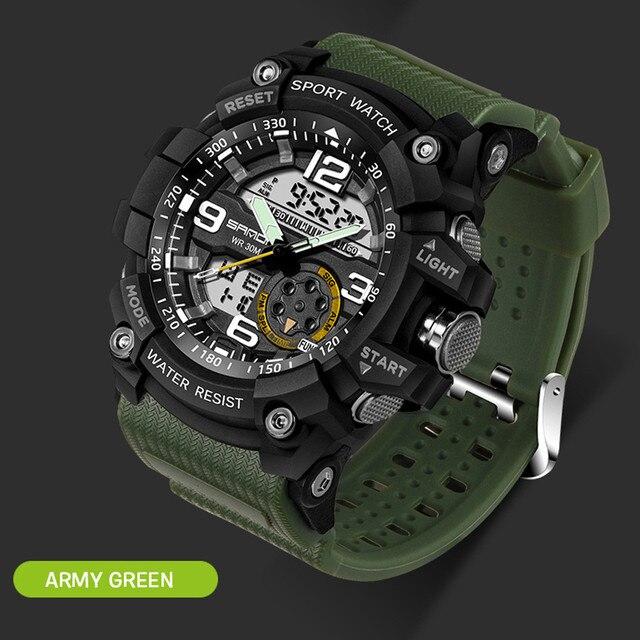 75cf5426733 Relógio de mergulho Homens Relógios Choque À Prova D  Água Esportes  Eletrônicos Digitais relogio feminino
