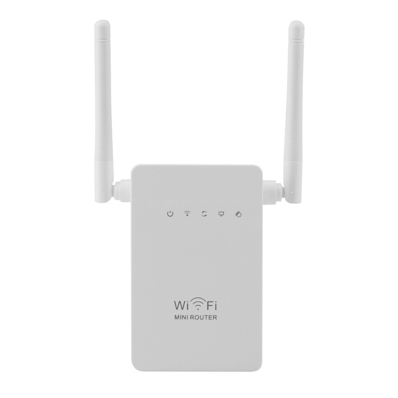 Wireless Wifi Repeater 300mbps Extender Booster Dual Antenna Amplifier For Wi-fi Signal Network Range Wi Fi 2.4G AP Router