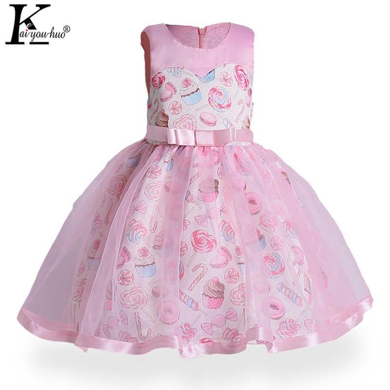 13ca3e2f412 Keaiyouhuo 2018 новый детский карнавал Платья для женщин для платье  принцессы для девочек Детская одежда лук