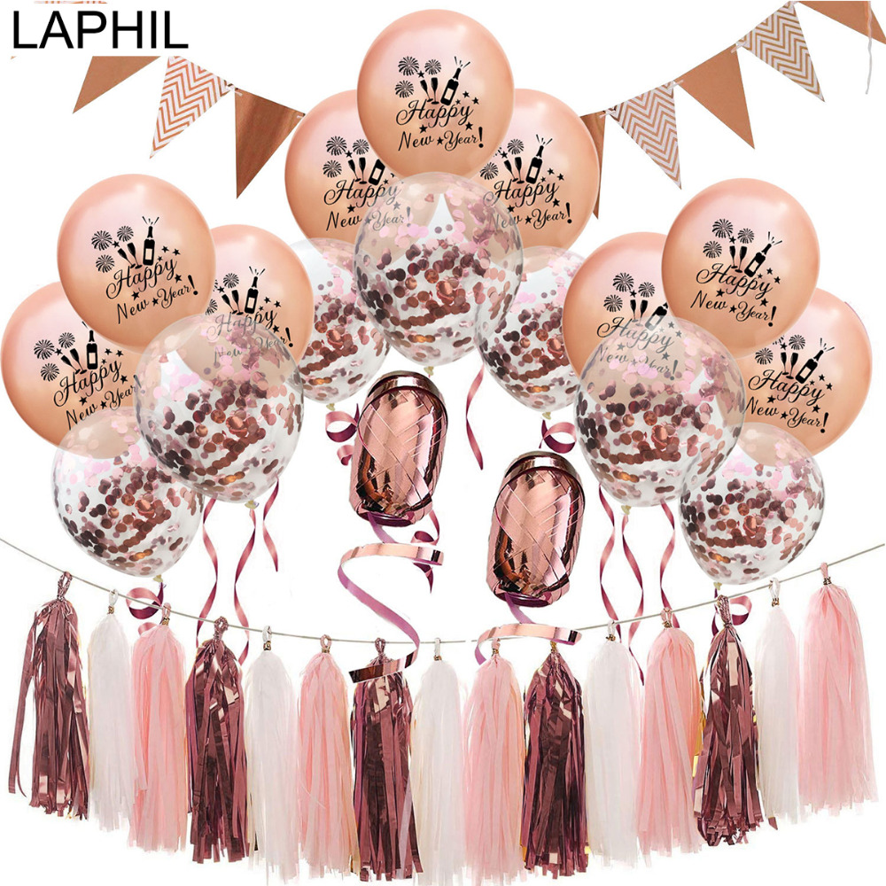 LAPHIL 2019 Happy New Year Balloons Christmas Confetti ...