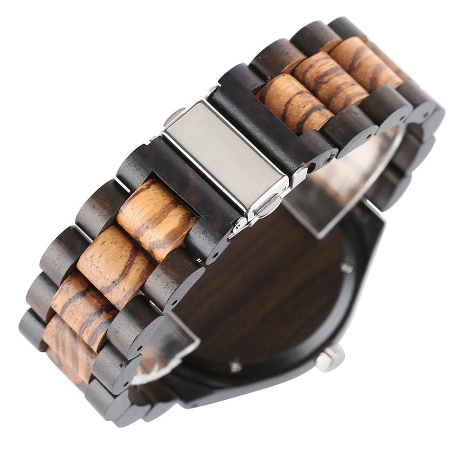 YISUYA Luxury Wooden Watches for Men Vintage Analog Quartz Handmade Walnut Zebra Bamboo Wood Band Wristwatch Clock Christmas Gifts Reloj  (11)