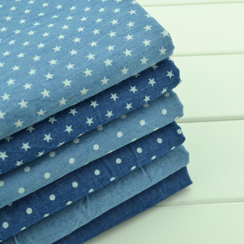 Cotton Denim Fabric Printing Cotton  Jeans Fabric For DIY Sewing Fashion Apparel Making Material